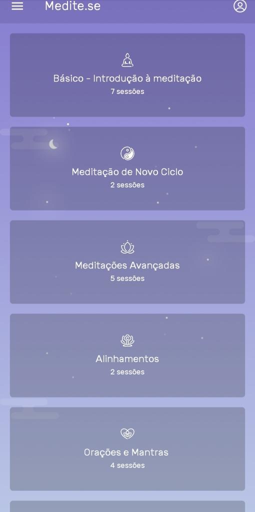 Aplicativos de meditação: Medite-se