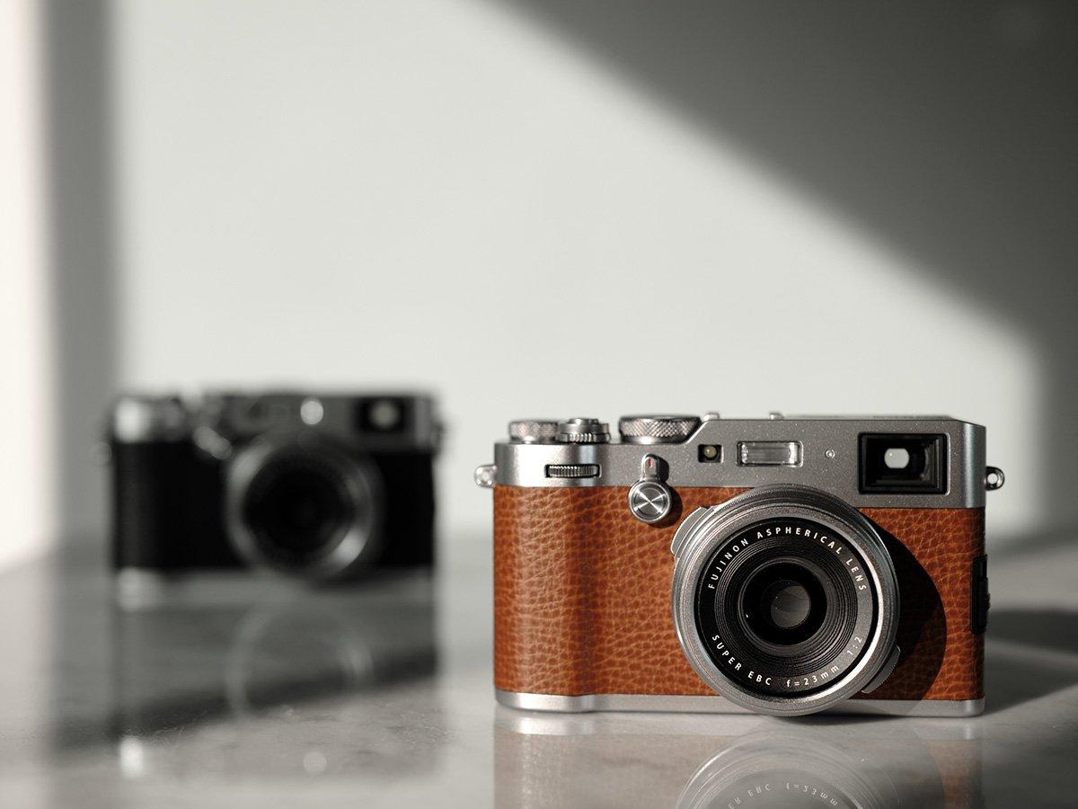 Fujifilm x100f brown camera