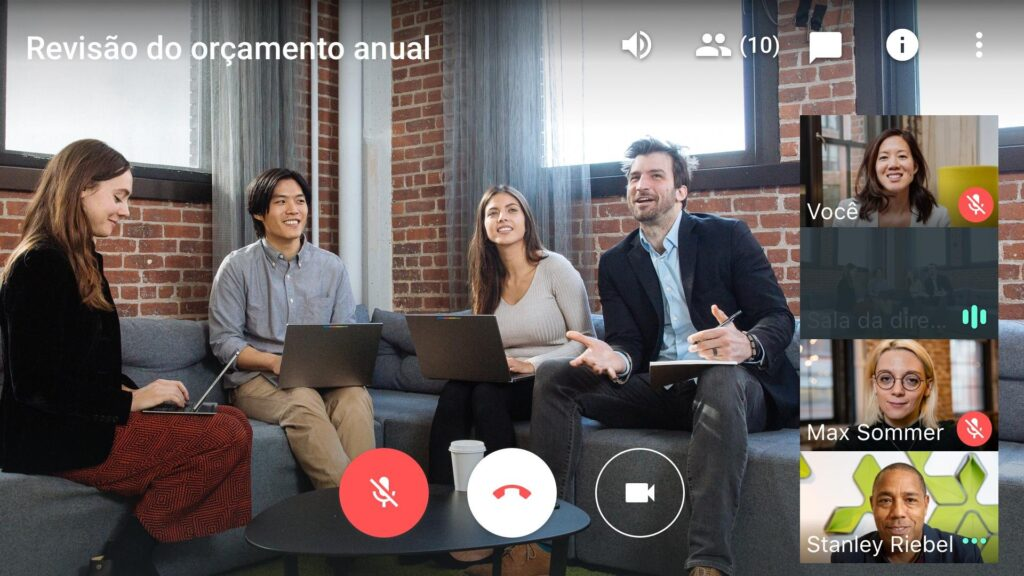 Videochamada no google meet