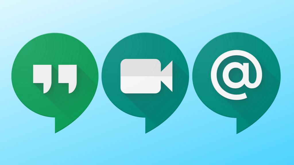 Logos dos serviços do Hangouts (Google Meet)