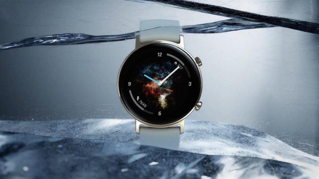 Huawei watch gt 2 na água