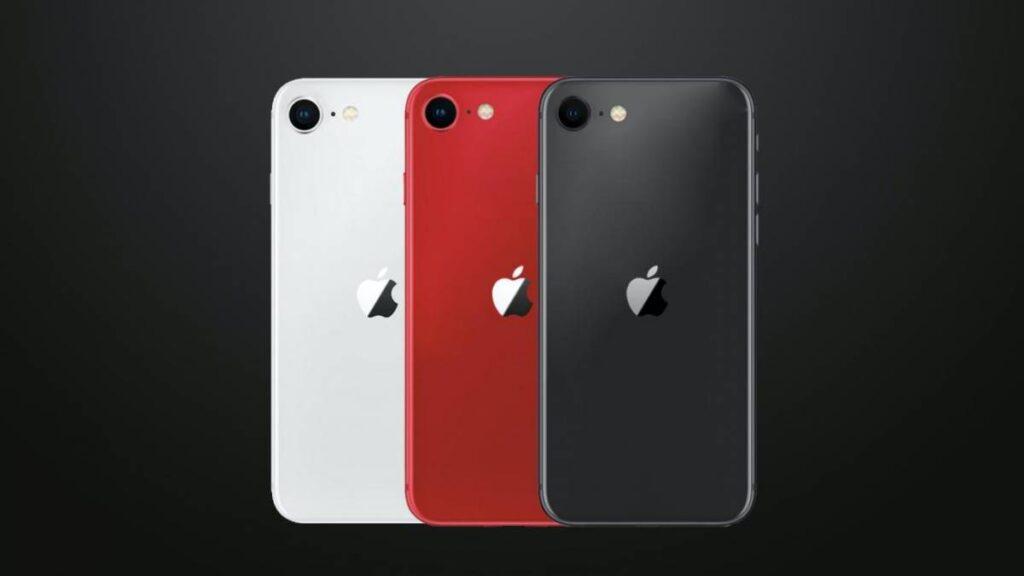 Novo iphone se branco, vermelho e preto