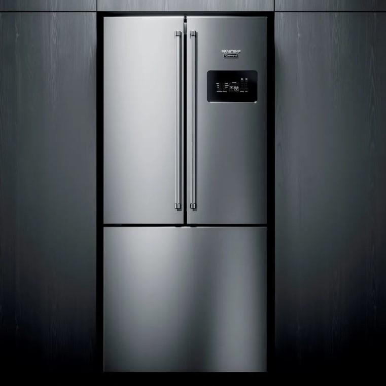 Parte da frente da geladeira gourmand da brastemp