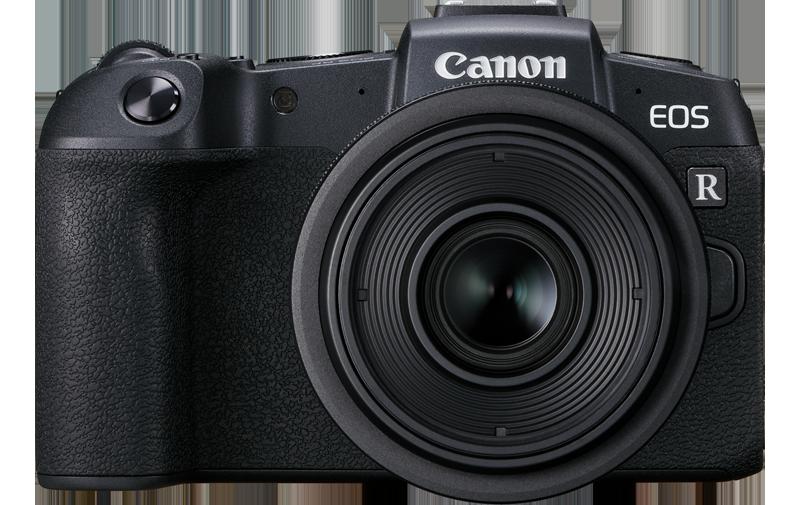Canon EOS RP em frente à um fundo branco