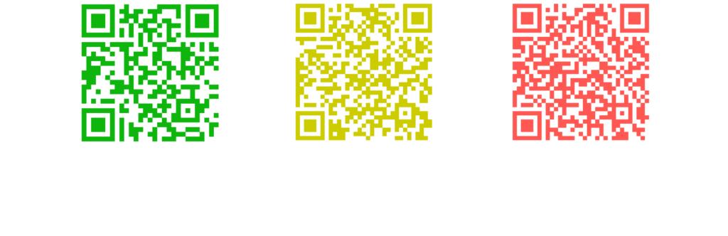 Exemplo de códigos qr, como os usados nos sistemas da china
