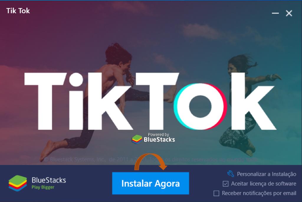 Emulador Bluestacks TikTok
