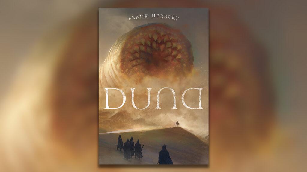 Duna capa do livro, com minhoca de areia gigante