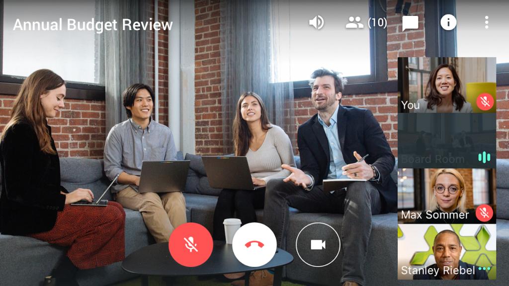 Tela pessoas usando o novo Google Meet