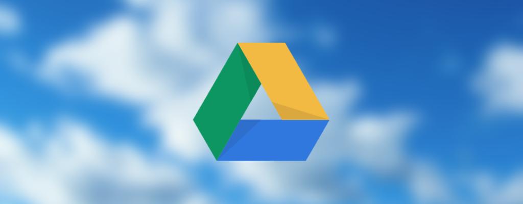 Ilustração com logotipo do google drive