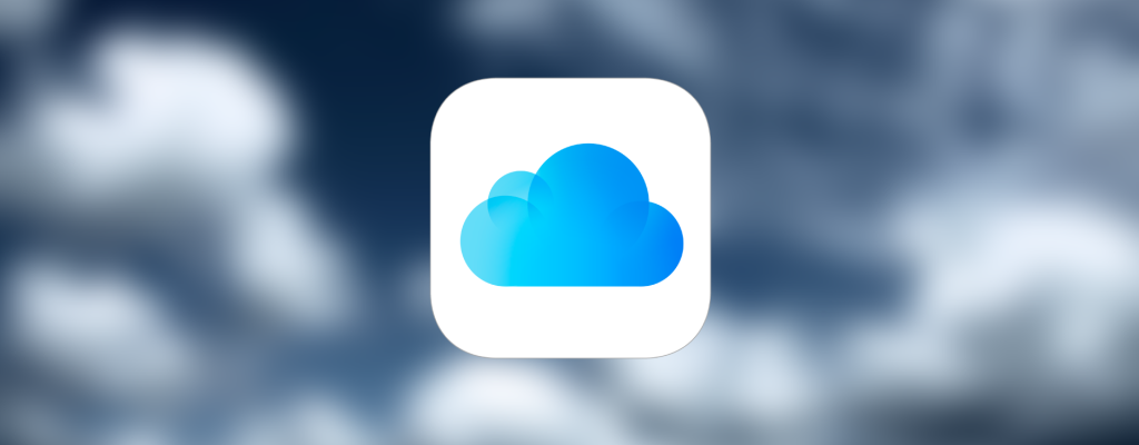 Ilustração com o logotipo do iCloud