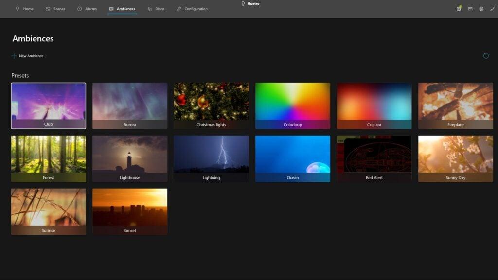 Tela do aplicativo huetro for hue
