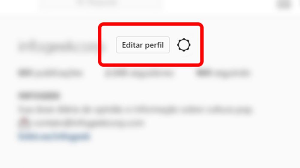 instagram, aplicativo com seleção editar perfil