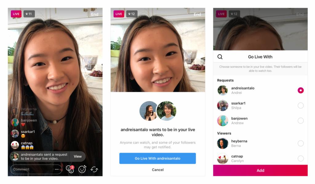 Live Instagram com outro amigo