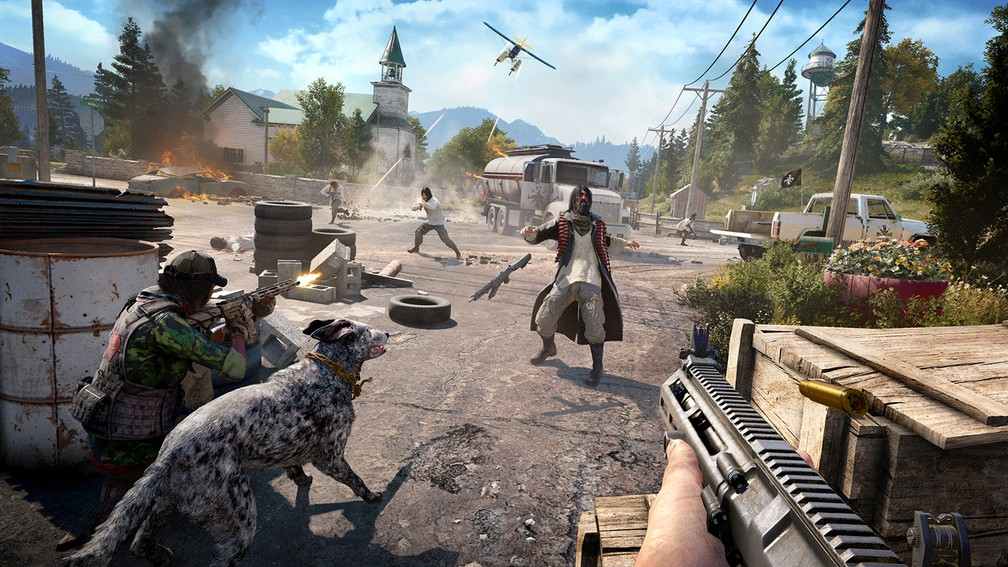 Jogo far cry 5 rodando no mini-pc da intel