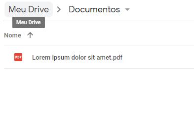 Arquivo PDF no Google Drive