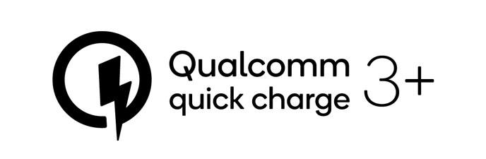 Logo do Quick Charge 3+ da Qualcomm
