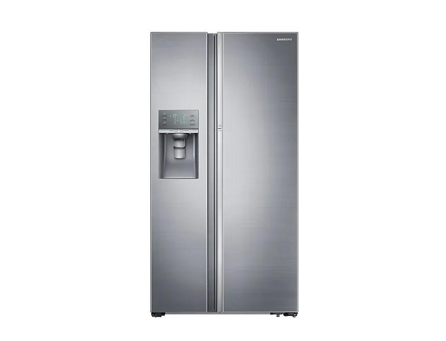 Parte da frente da geladeira side by side da samsung