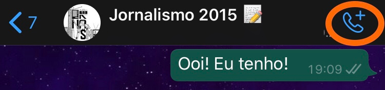 Tela do whatsapp
