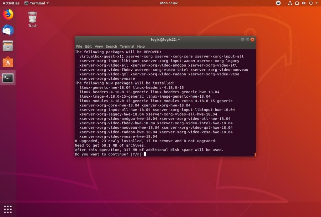 Área de trabalho do Ubuntu