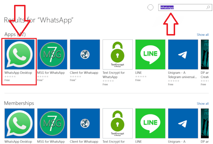 WhatsApp Desktop para Windows