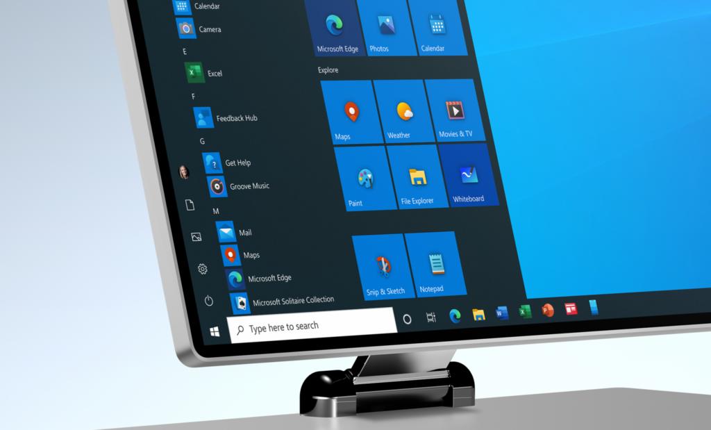 Monitor de computador com windows 10