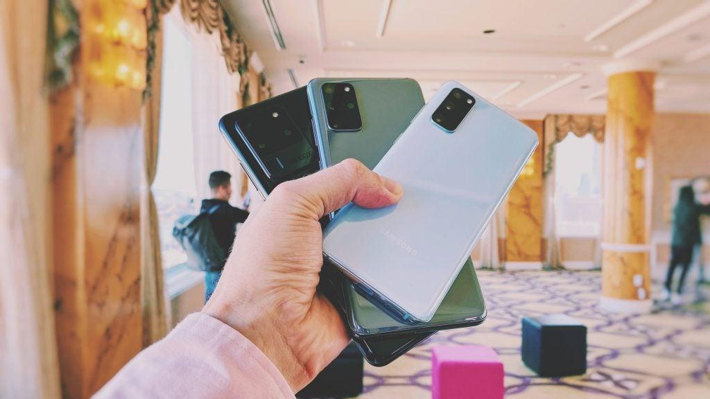 Smartphones da linha Galaxy S20 da Samsung