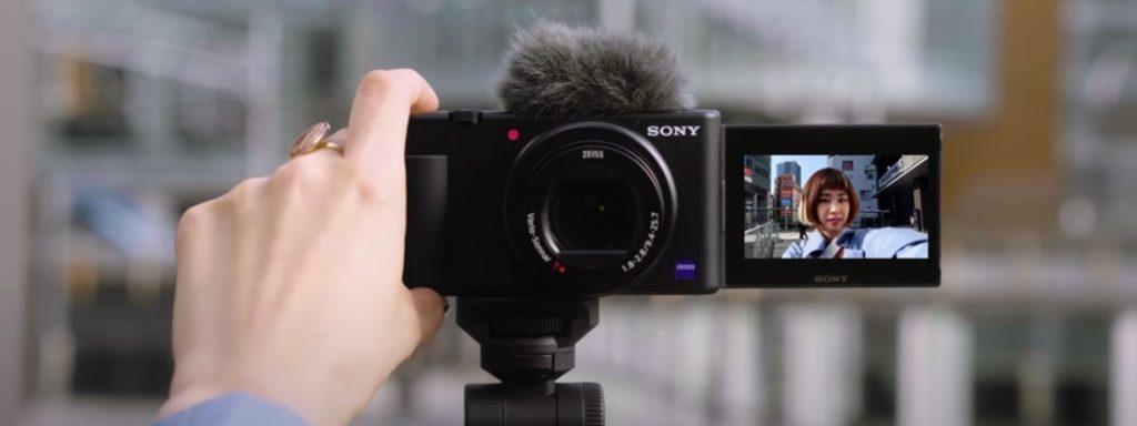 Nova sony zv-1 em gravação