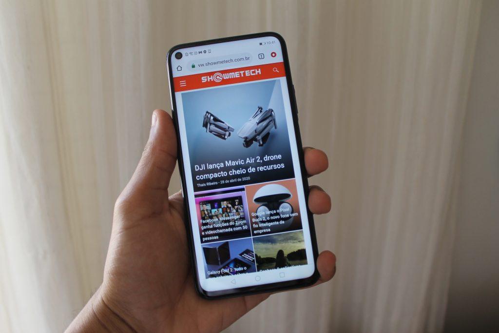Tela com o site do Showmetech Huawei nova 5T