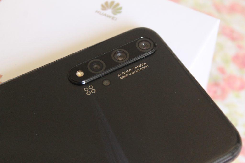 Quatro lentes do  Huawei nova 5T