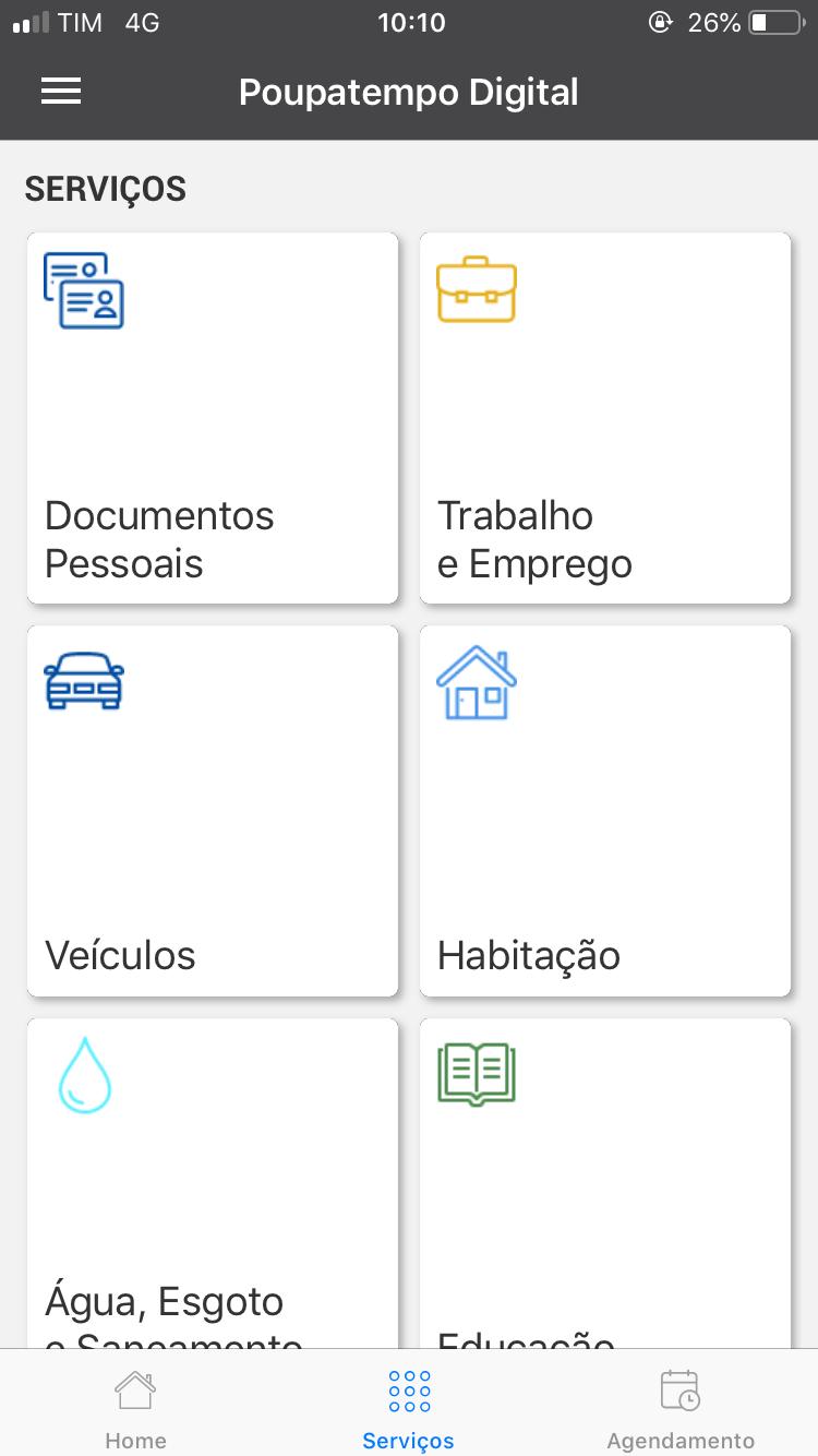 لقطة شاشة Poupatempo Digital