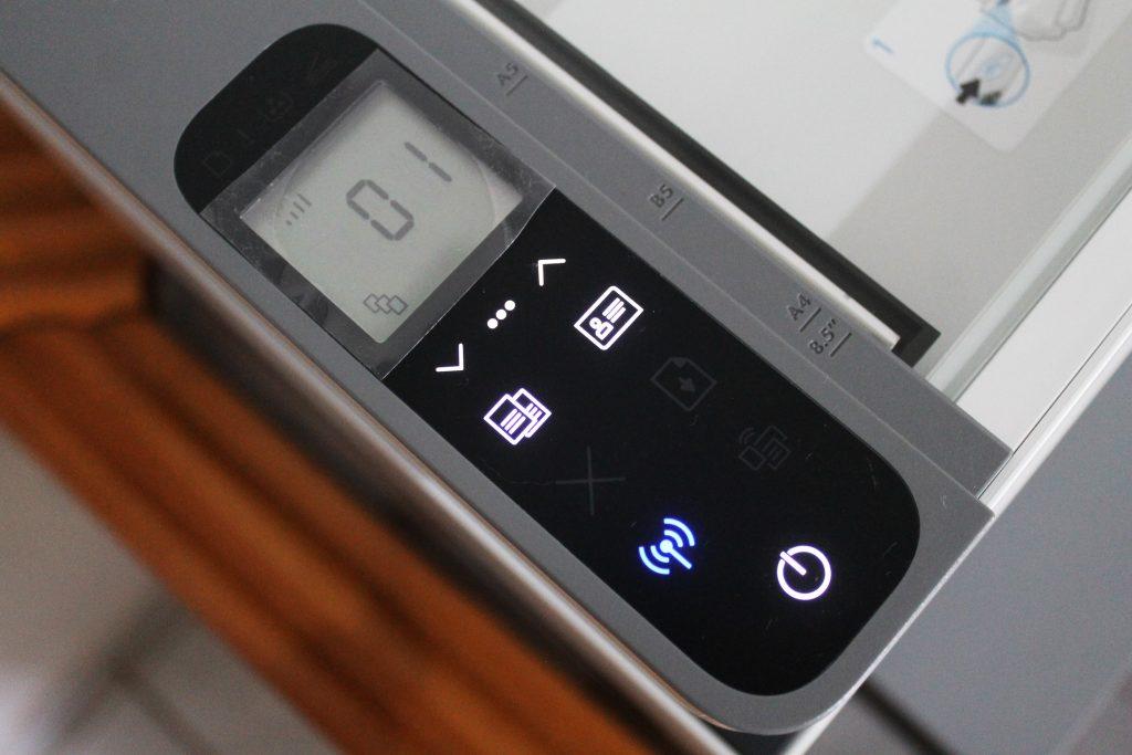 Botões de configuração da HP Laser Neverstop 1200W