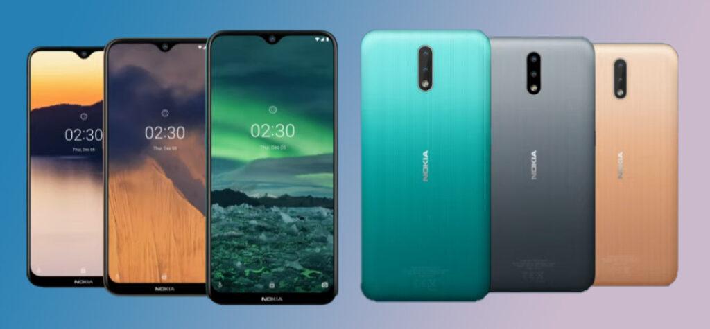 Cores disponíveis do Nokia 2.3