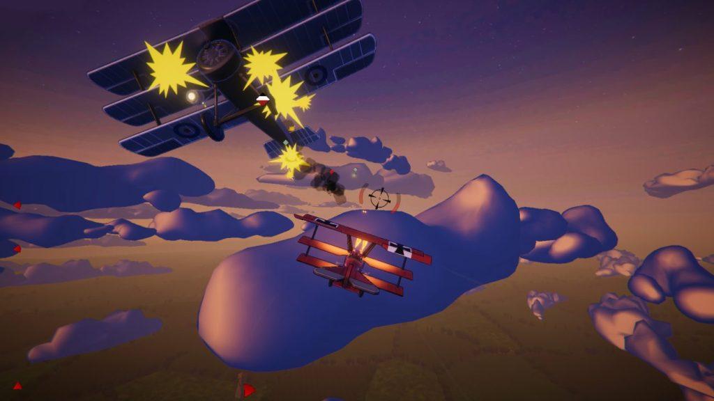 Derrotando aviões inimigos em Red Wings: Aces of the Sky
