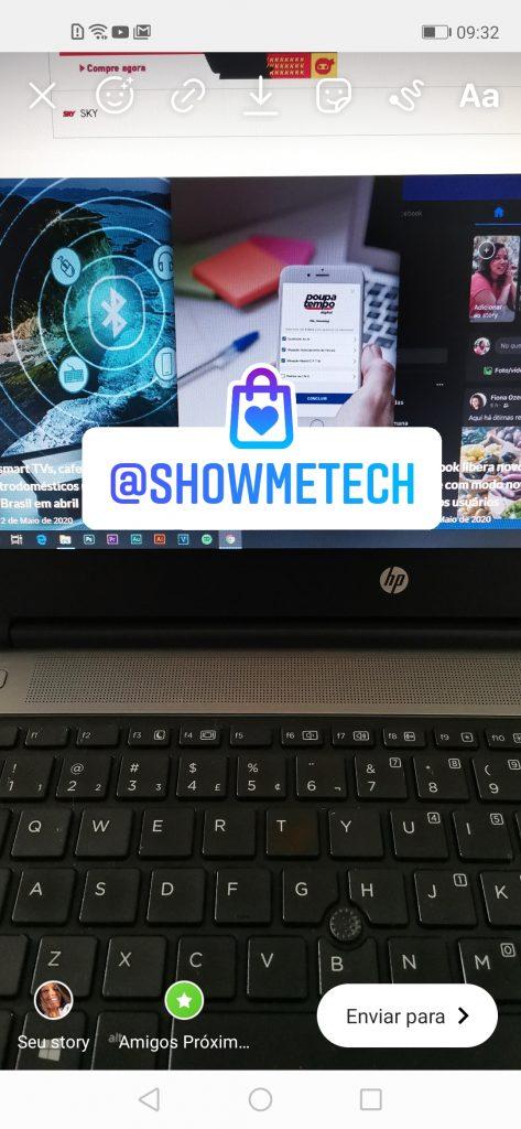 Sticker do Instagram de pequenas empresas
