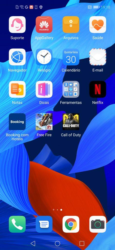 Interface do Huawei nova 5T