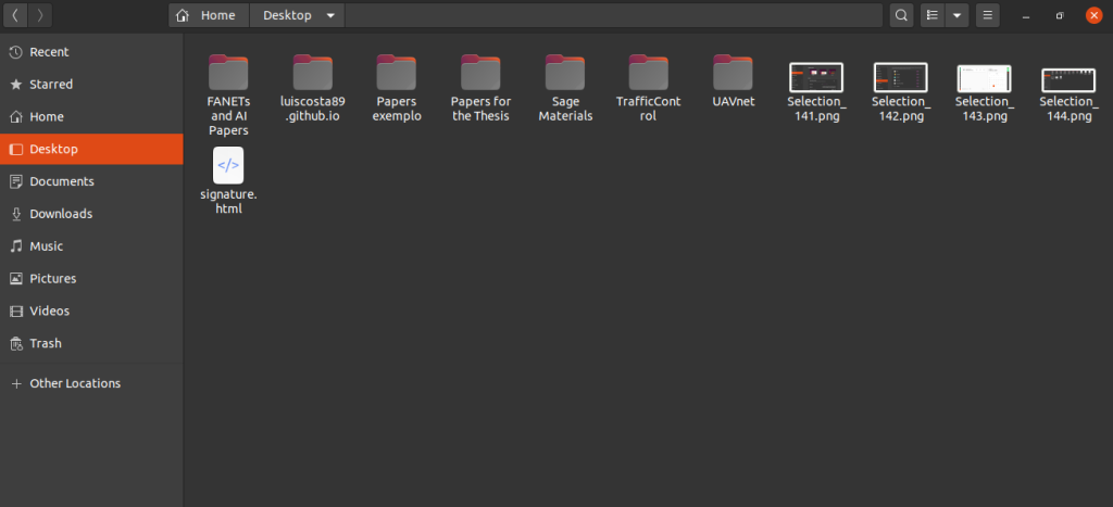 Tema Dark aplicado ao gerenciador de arquivos do sistema