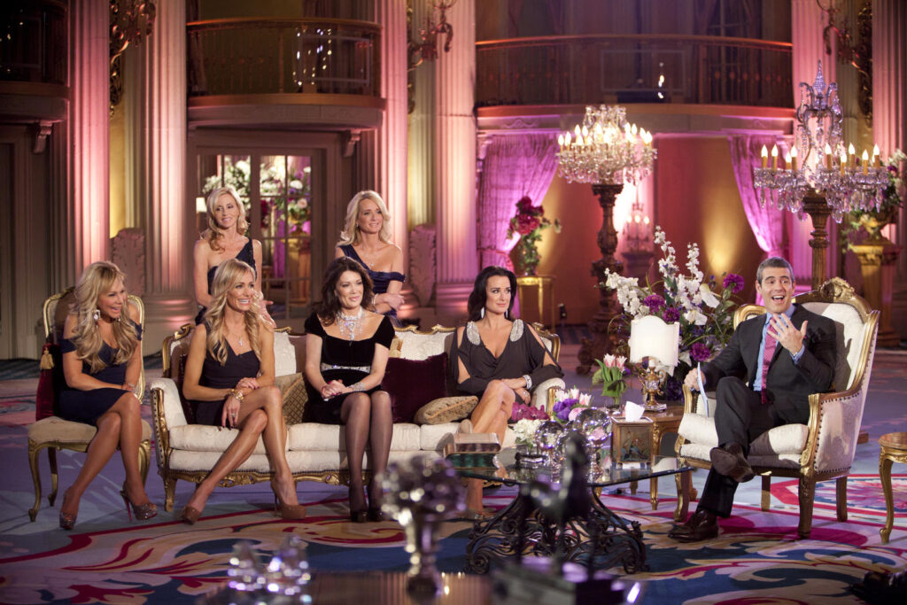 Cena do reality show the real housewives of beverly hills