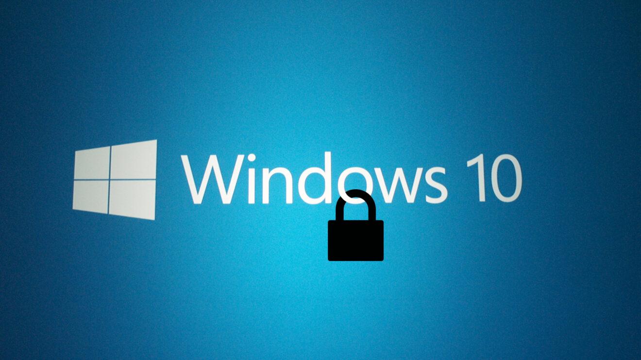 Logo do Window 10 com foco em segurança