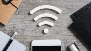 Imagem de Smartphone Android com conexão Wifi