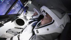 Dupla de astronautas do voo espacial tripulado da SpaceX
