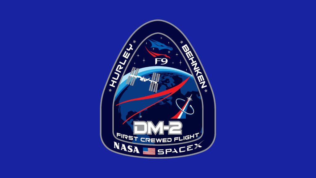 Patch da missão demo-2 de voo espacial tripulado
