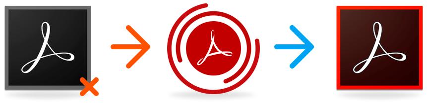 Adobe reader, logotipos de softwares para recuperação (recovery toolbox e acrobat reader)