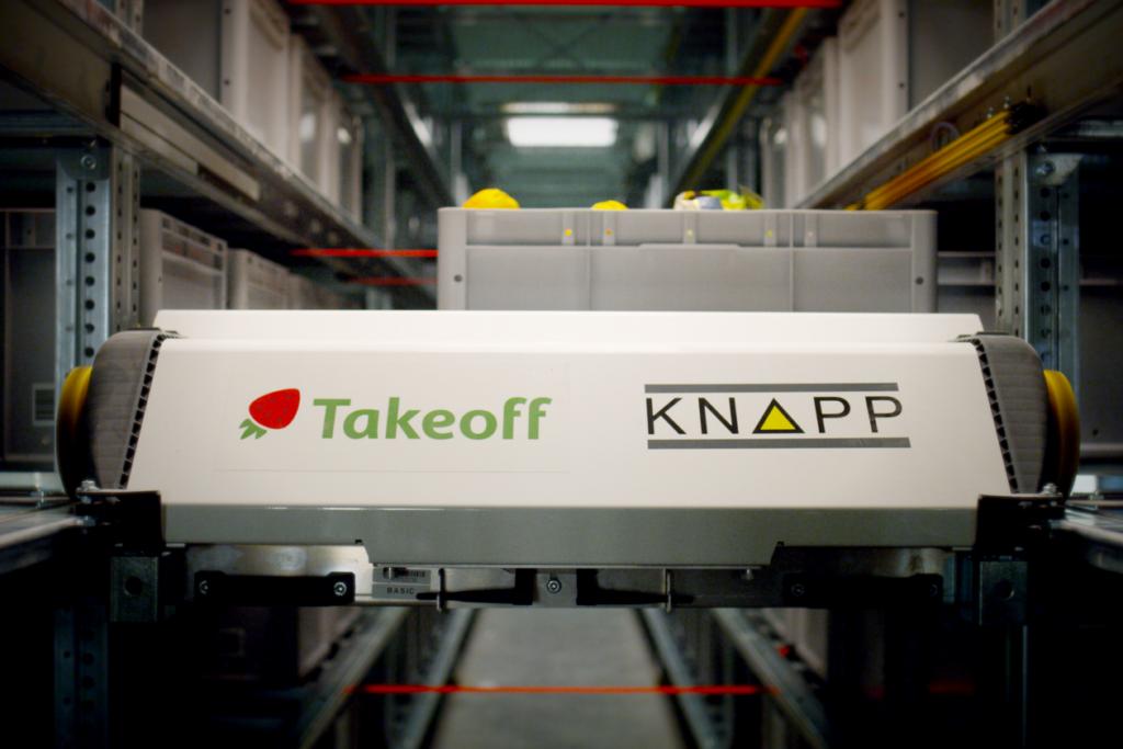 Um dos robôs da empresa Takeoff Technologies