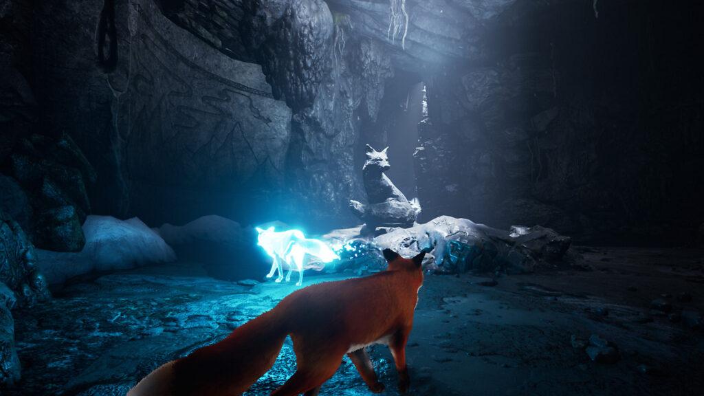 Personagem da raposa em Spirit of the North como um dos melhores jogos indie de maio