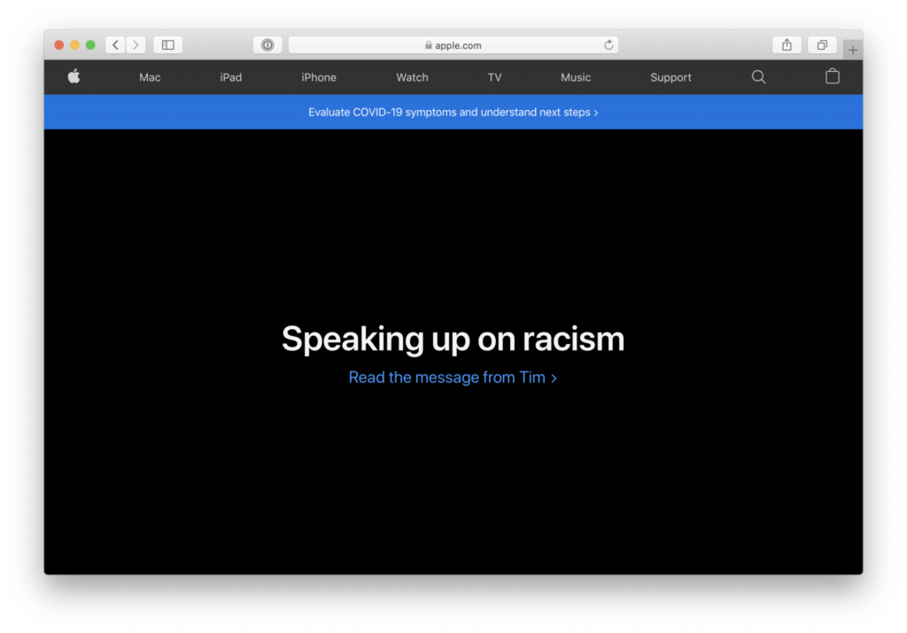 Apple Falando sobre racismo