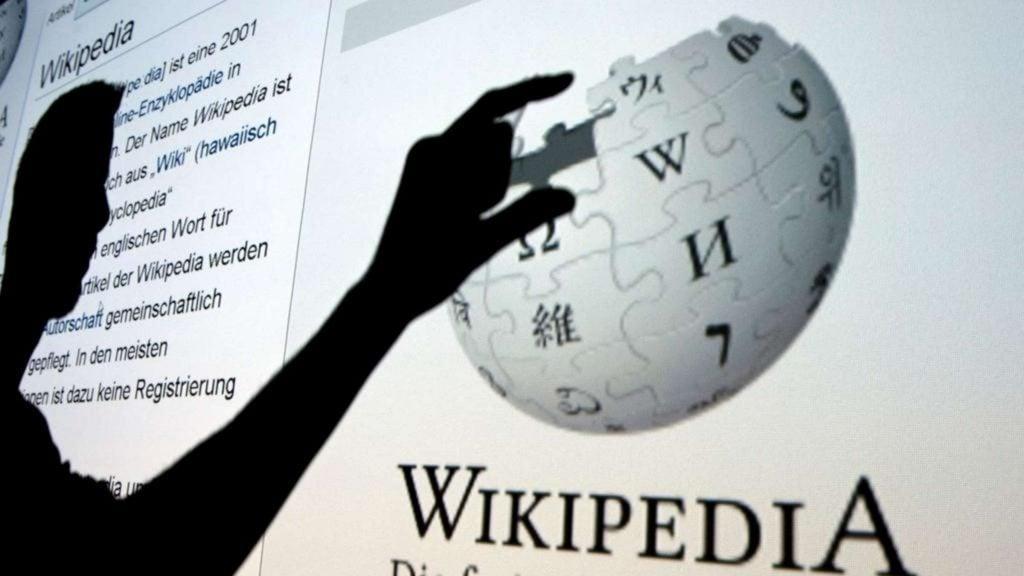 Mão seleciona tópicos do wikipedia