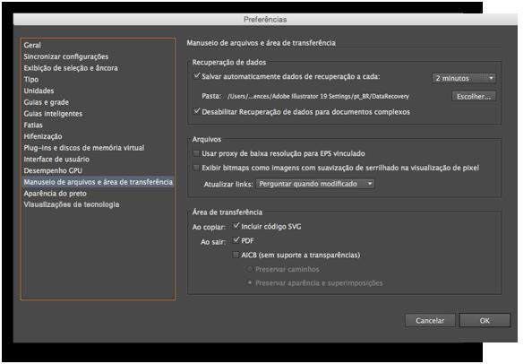 Adobe Illustrator: Como restaurar um projeto perdido?