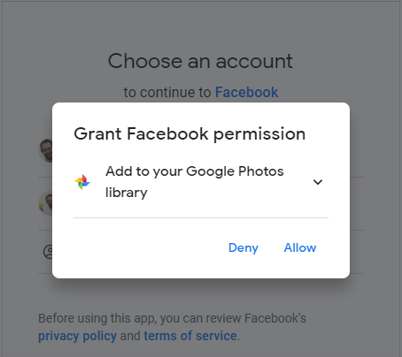 baixar fotos facebook google fotos