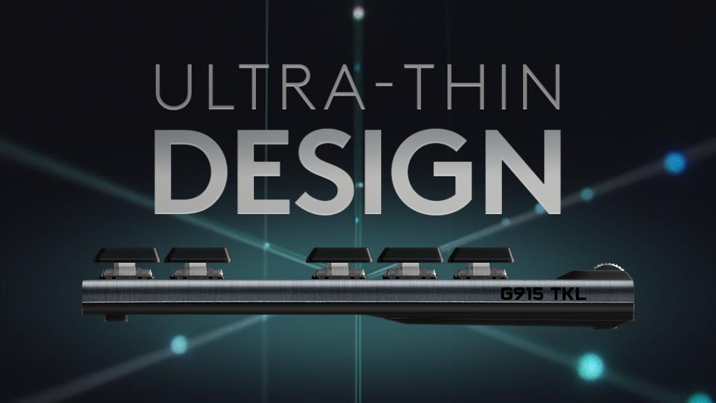 Design ultrafino do novo Logitech G915 TKL