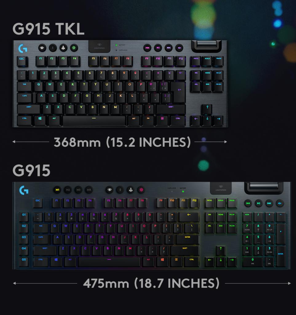 Logitech G915 TKL e Logitech G915